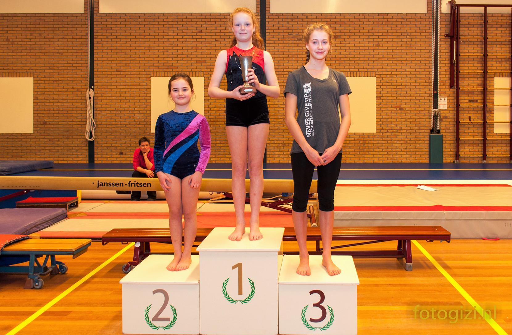 Mesa van den Elst CLUBKAMPIOEN Gymnastiek Vereniging Texel